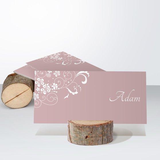 Garten der Träume - Tischkarte einfach 100x048 - Altrosa
