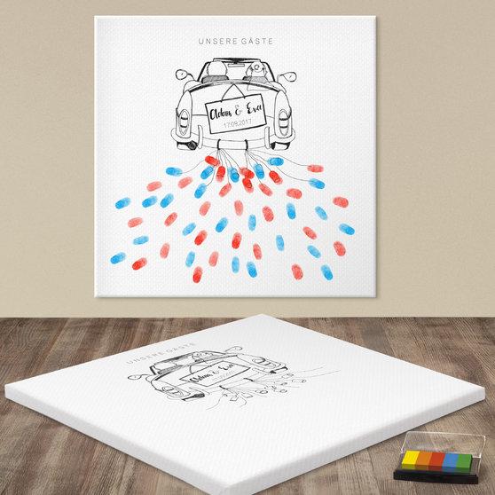Fingerabdruckposter - Hochzeitsdosen