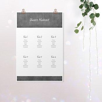 Sitzplan Hochzeit - Getäfelt