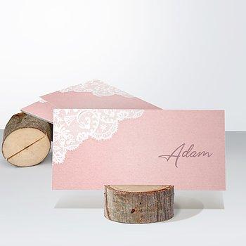 Tischkarten Hochzeit - Pastellspitze