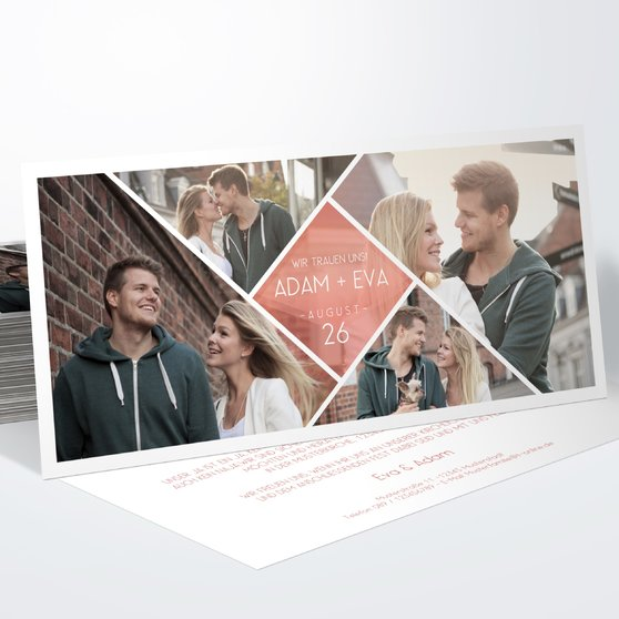 Facetten - Horizontal 210x100 zweiseitig - Terrakotta