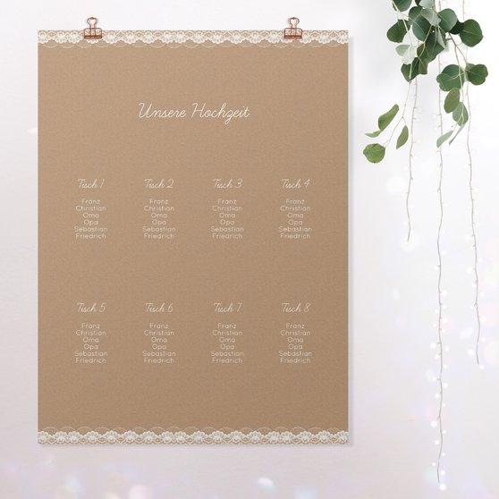 Sitzplan Hochzeit - Hochzeitsspitze