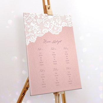 Sitzplan Hochzeit - Pastellspitze