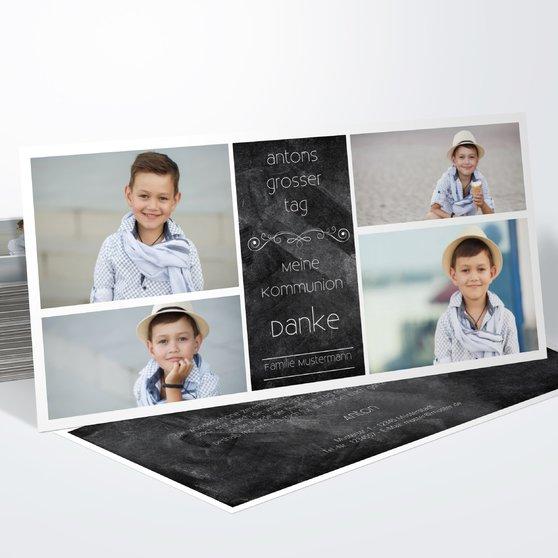 Kommunionstafel - Horizontal 210x100 zweiseitig - Schwarz