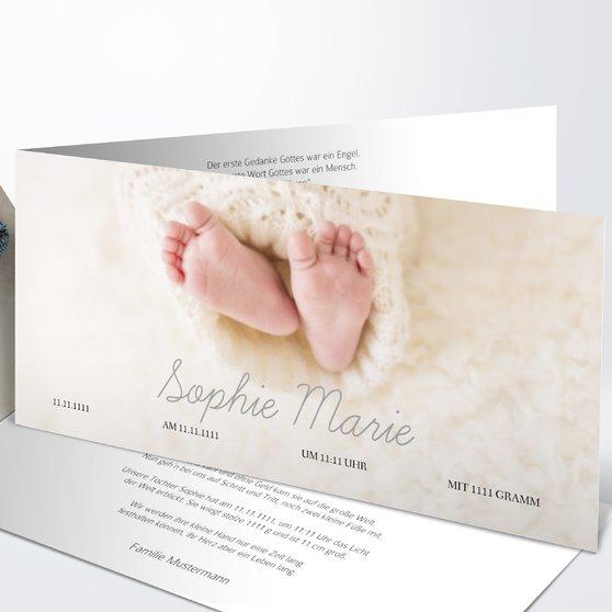 Einfach & Simple - Horizontale Klappkarte 210x100 - Grau