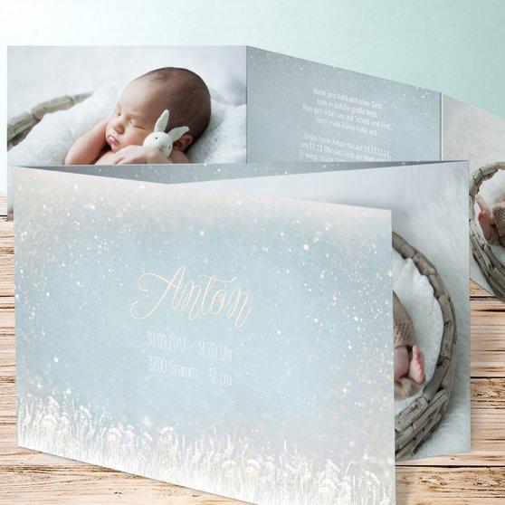 Zauberlicht Baby - C6 Doppelklappkarte 148x105 - Blau