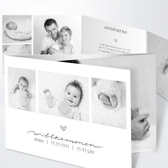 Kleiner Schatz - C6 Doppelklappkarte 148x105 - Weiß