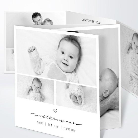 Kleiner Schatz - Doppelklappkarte 145x145 - Weiß