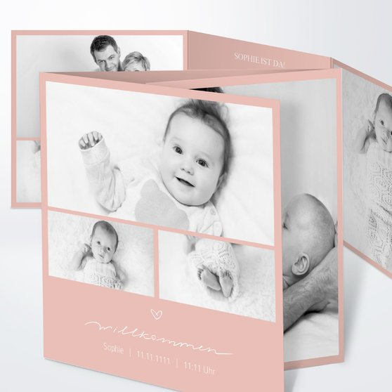 Kleiner Schatz - Doppelklappkarte 145x145 - Terrakotta