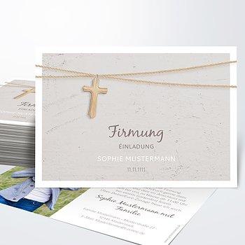 Firmung Karten - Holzkreuz