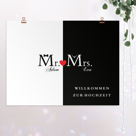 Wegweiser - Mr & Mrs