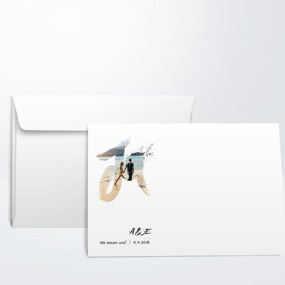 Umschlag mit Design Hochzeit - Liebesenergie