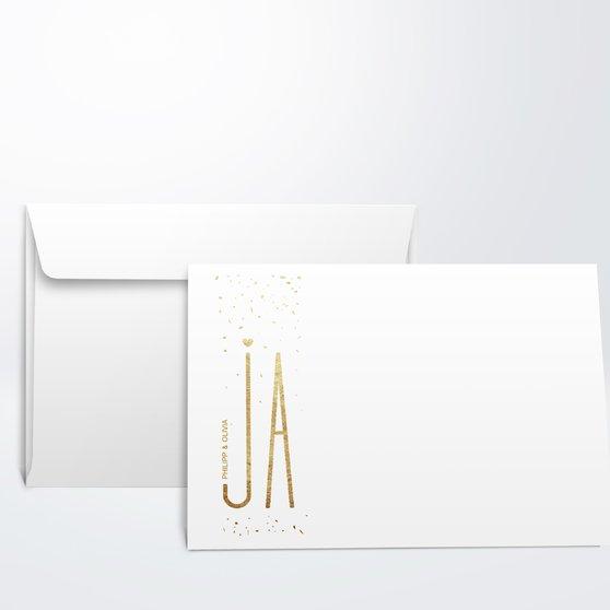 Umschlag mit Design Hochzeit - Goldsturm