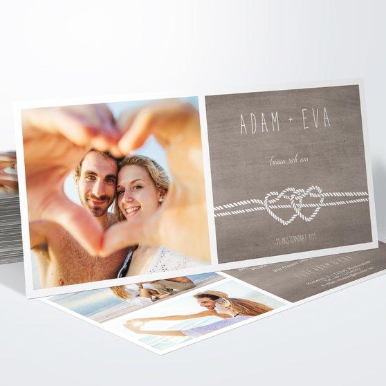 Liebesknoten - Horizontal 210x100 zweiseitig - Graubraun