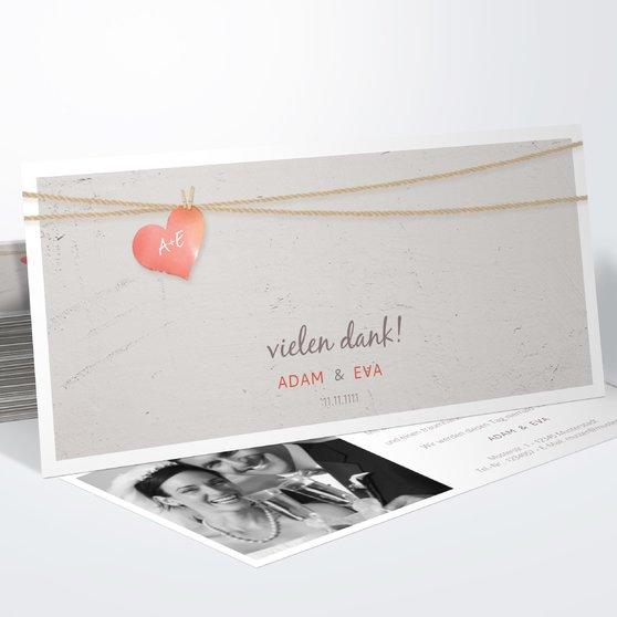 Liebesfaden - Horizontal 210x100 zweiseitig - Hellbraun