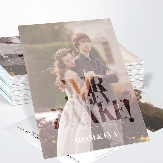 Danksagungskarte Hochzeit - Das große Wort