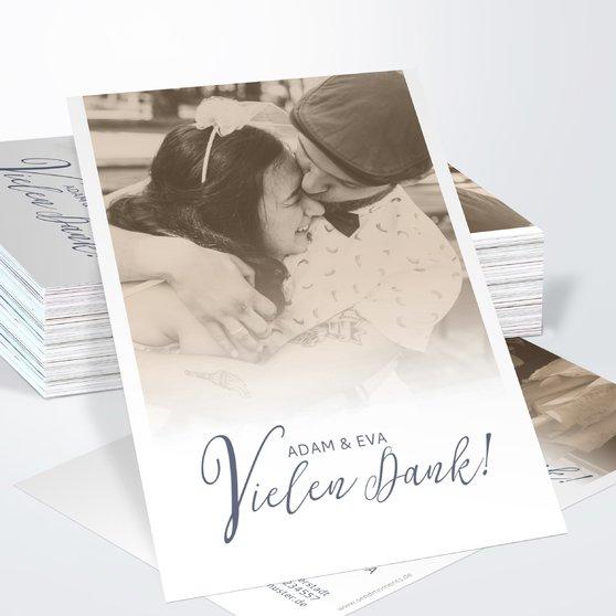Danksagungskarte Hochzeit - Unsere Bestimmung