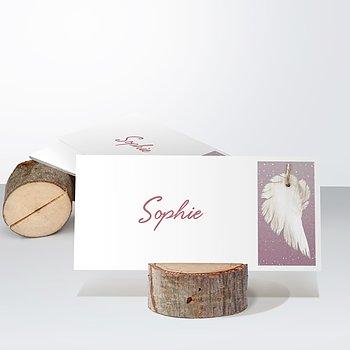 Tischkarten - Zarte Flügel Baby