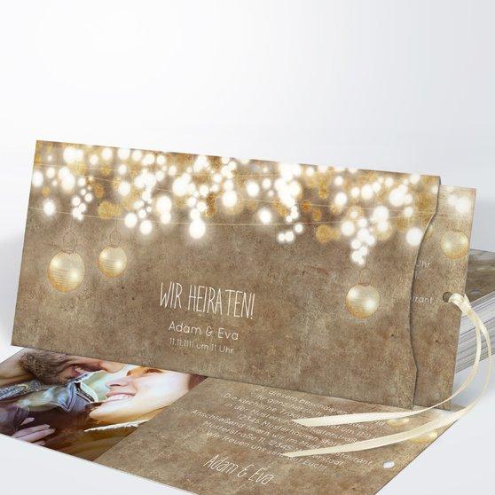 Luminaria - Einsteckkarte mit Hülle 214x104 - Dunkel Bisquite