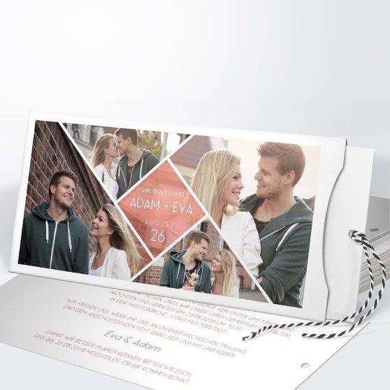 Facetten - Einsteckkarte mit Hülle 214x104 - Terrakotta
