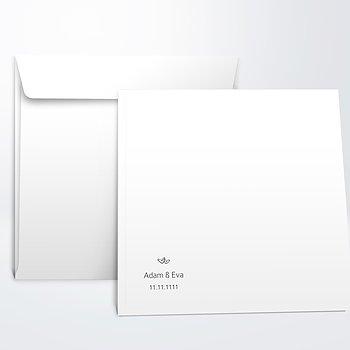 Umschlag mit Design Hochzeit - Herzklopfen