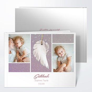 Gästebuch Taufe - Zarte Flügel Baby