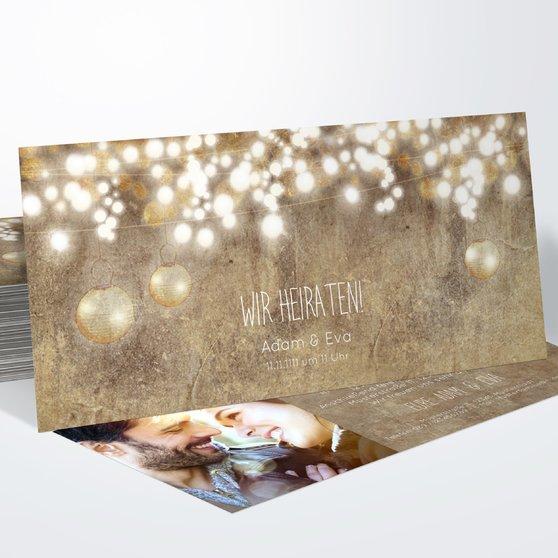 Luminaria - Horizontal 210x100 zweiseitig - Dunkel Bisquite