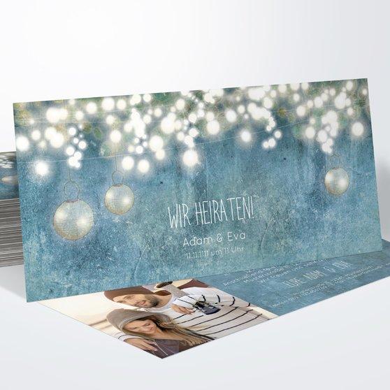 Luminaria - Horizontal 210x100 zweiseitig - Feines Blau