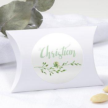 Geschenkaufkleber für Gastgeschenke - Grüne Pracht