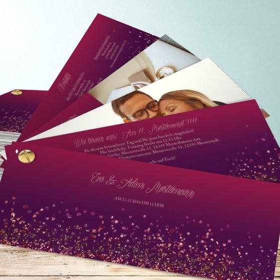 Geflitter - Kartenfächer 210x80 - Violett