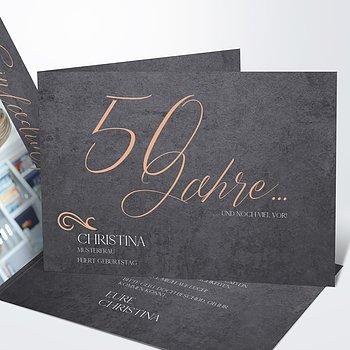 Geburtstagseinladungen - Lebenstraum 50