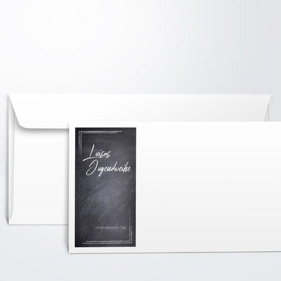 Umschlag mit Design Jugendweihe - Tafelglanz