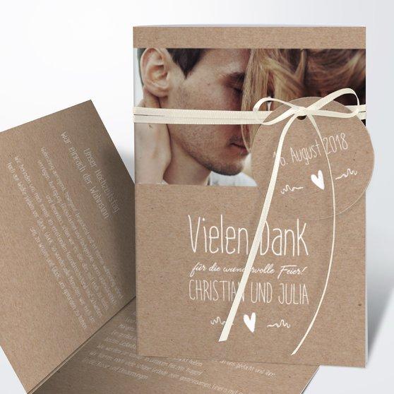 Danksagungskarte Hochzeit - Rustique