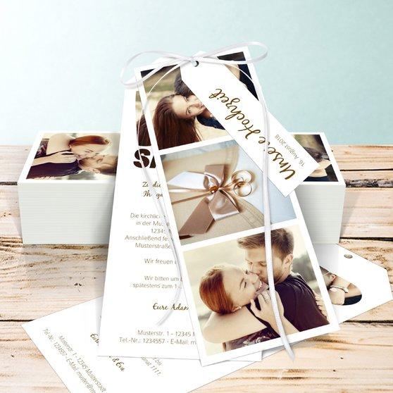 Liebe durch und durch - Kartenset Trio 90x210 - Weiß