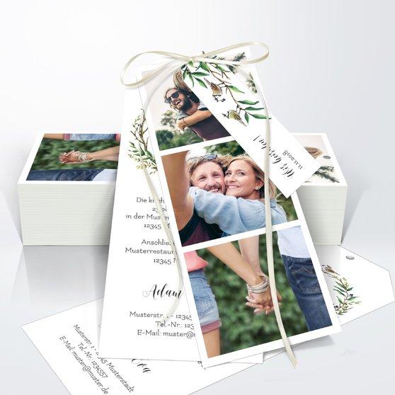 Liebesnest - Kartenset Trio 90x210 - Weiß