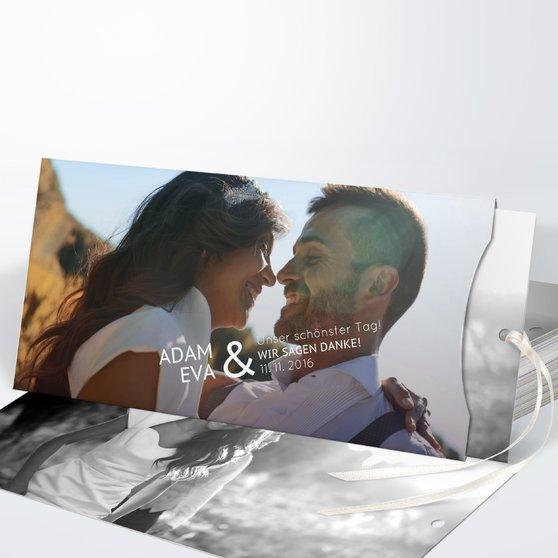 Danksagungskarte Hochzeit - Einfach Ja