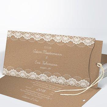 Hochzeitseinladung - Hochzeitsspitze