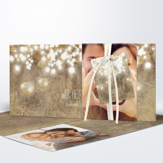 Luminaria - Kartenset Banderole - Dunkel Bisquite