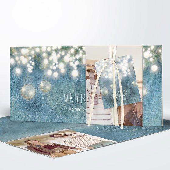 Luminaria - Kartenset Banderole - Feines Blau