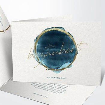 Weihnachtskarten Geschäftlich - Blaupause
