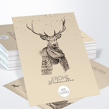 Weihnachtskarten Geschäftlich - Der Elch