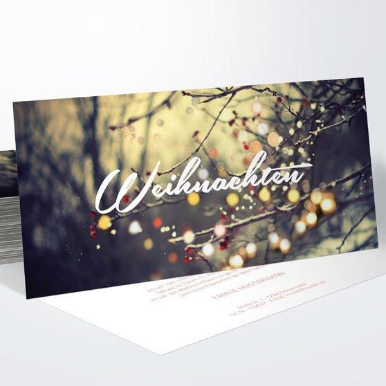 Weihnachtskarten - Lichterwald