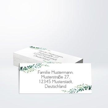 Adressaufkleber  Hochzeit - Grüne Pracht