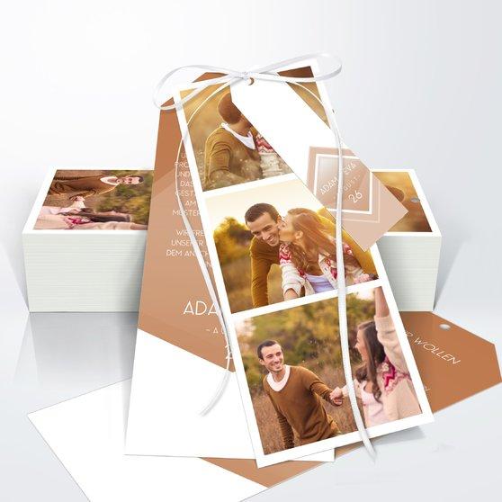 Facetten - Kartenset Trio 90x210 - Medium Creme
