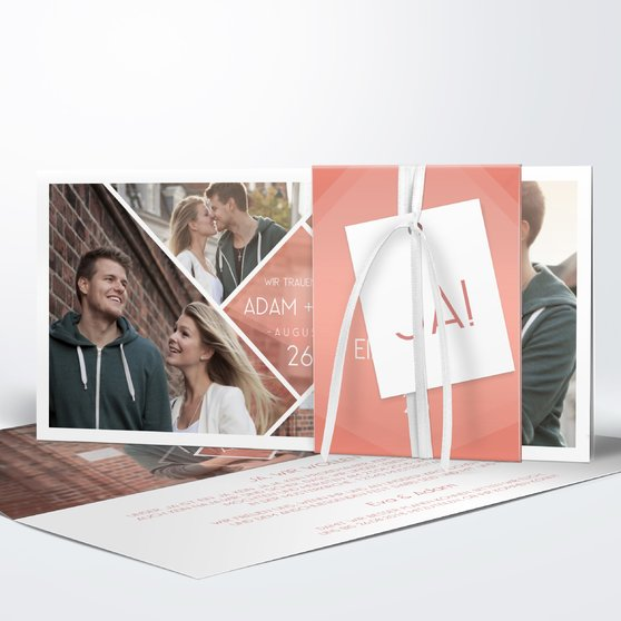 Facetten - Kartenset Banderole - Terrakotta