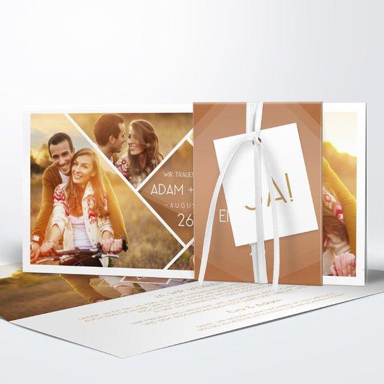 Facetten - Kartenset Banderole - Medium Creme