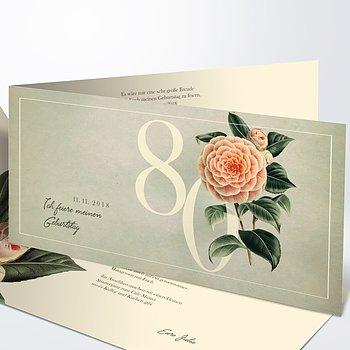 Geburtstagseinladungen - Kamelie 80