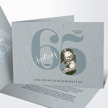 Geburtstagseinladungen - My time 65