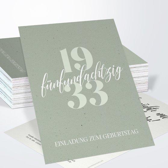 Geburtstagseinladungen - Patina 85