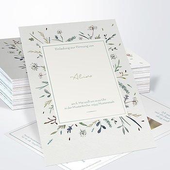 Firmung Karten - Wiesenblume
